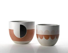 The Modernist Pots 3D model