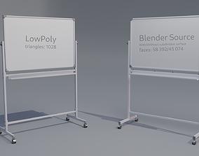 whiteboard for school or office 3D model