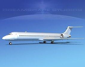 3D model McDonnell Douglas MD-87 Bare Metal