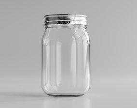 3D model peanut Glass Jar