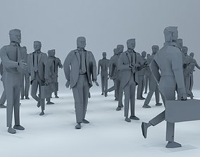 30 Piece Lowpoly Standing Men Pack 3D asset realtime