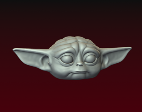 Baby Yoda head 3D printable model
