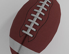 3D asset low-poly Football American