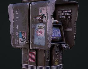 3D model Cyberpunk Phone Booth
