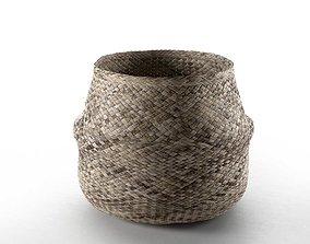 bin 3D model Wicker Basket