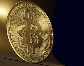 3D silver Bitcoin