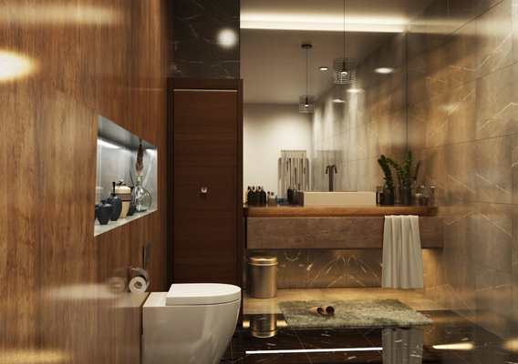 Architectural 3D Rendering Services Los Angeles California for Stunning Bathroom