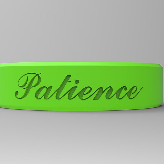 Patience Ring Paint Matte Green
