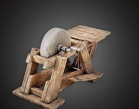 3D model Blacksmith Grindstone - MVL - PBR Game Ready