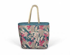 Designer Shopping Bag - Flower Prints 3D model
