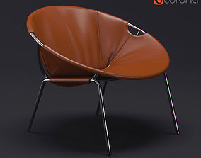 Dries Leather Sling Chair 3D