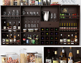 Bar with alcohol 3D model