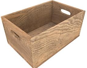 3D model Wooden Box Color 2
