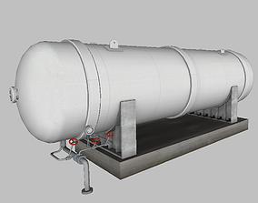 LNG Cryogenic Storage Tank 3D asset