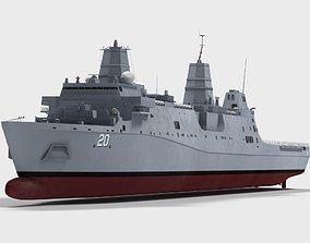 USS Green Bay LPD20 ship 3D model