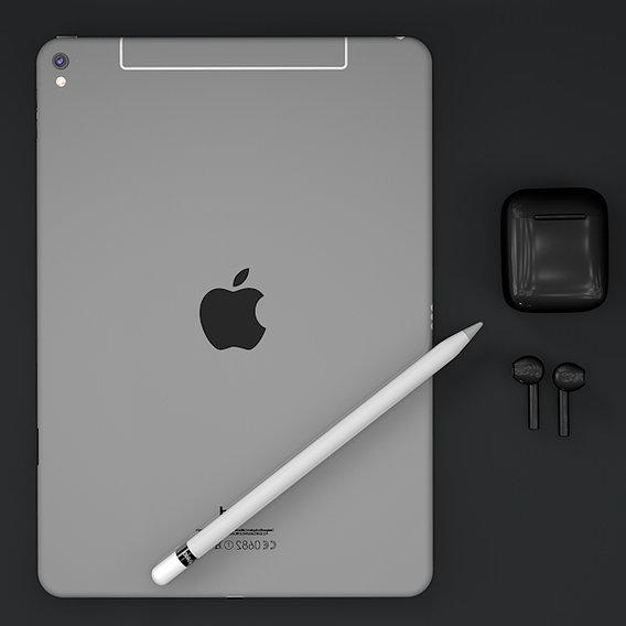 Ipad, apple pencil , airpods