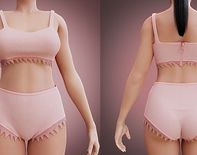 female underwear 3D
