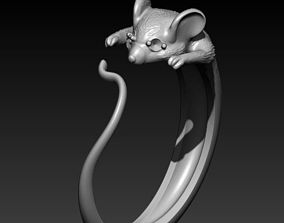 3D printable model mouse ring