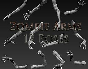 Zombie Arms 12 Poses 3D model