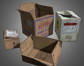 Cardboard Boxes Set 2 - PBR Game Ready 3D asset