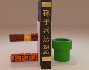 Super Mario Stage Bookends 3D printable model