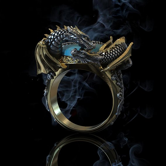 dragon ring and pendant