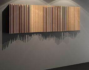 3D model Wave Diffuser - Recording Studio Wall Panel