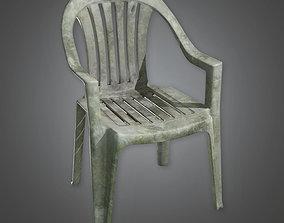 3D model game-ready Lawn Chair TLS - PBR Game Ready