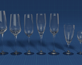 3D PBR Set of glasses