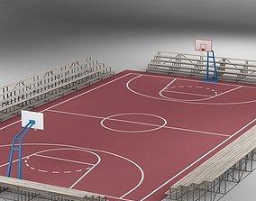 Basketball Court 01 3D model