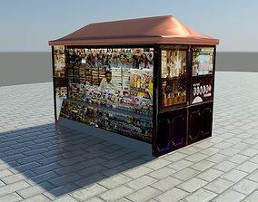3D Street News Stand