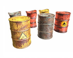 barrels pack 3D asset PBR