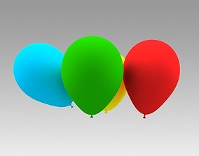 Balloon 3D model flying