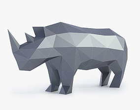 3D print model Low Poly Rhinoceros Sculpture