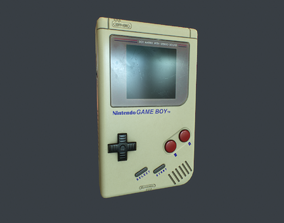 GameBoy 3D model low-poly