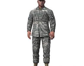 3D asset US Army Basic Infantry