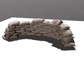 sand bag 3D asset