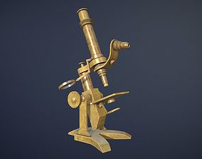 3D model Old Microscope game-ready asset