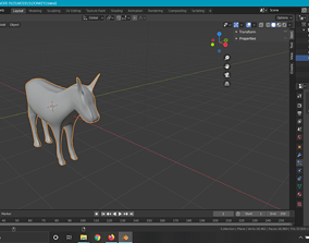 3D model Donkey animals