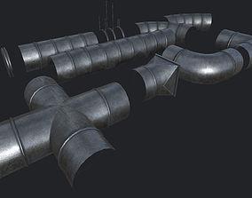 3D model Ventilation Modular Kit PBR