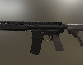 Mk18 Assault Rifle 3D asset