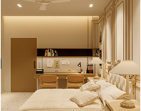 lantern Modern Master Bedroom 3D model- corona render