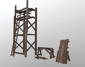 3D model Wooden Build Tools