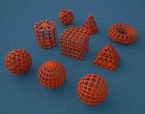 3D print model Standard geometric primitives
