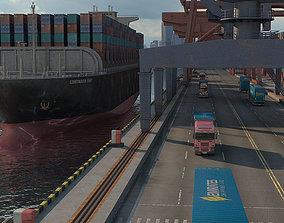 Shipping Port 3D