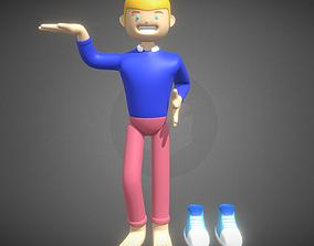 Boy Present a Logo Company 3D model