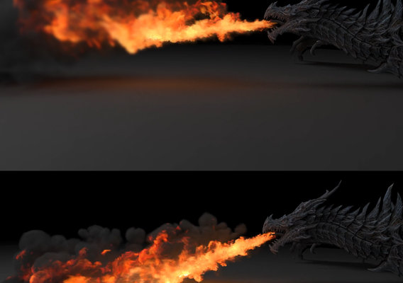 Fire Dragon By 3DSmax, Phonix FD & VrayNext