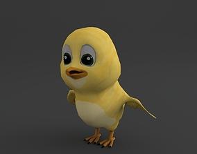 Little Chicken Toon 3D asset VR / AR ready