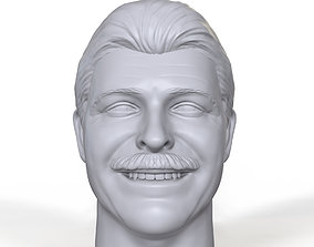 Raymond Rougeau 3D printable portrait sculpt