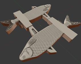 3D printable model 2 fish 2 knifes